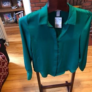 Brand new silky blouse size2 from H&M